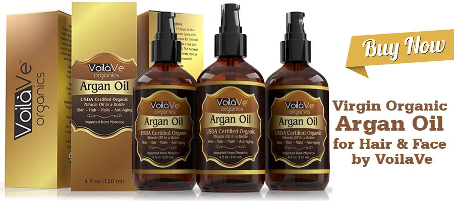Virgin Organic Argan Oil for Hair and Face by VoilaVe